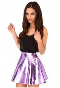 kitty metalic skater skirt in lilac 20,24€